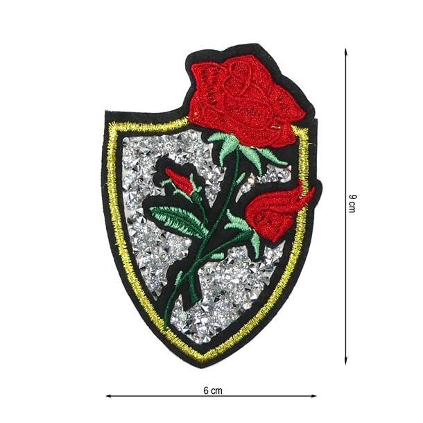 Parche escudo flor+tupis