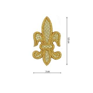 Aplic.flor de lis 3x5,5