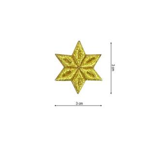 Aplic.estrella 6puntas 3x3