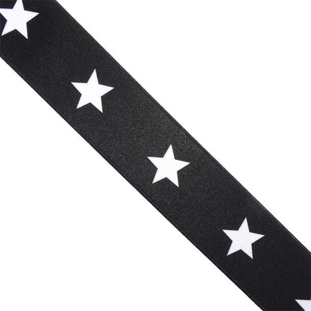 Goma estrellas 40mm.negro
