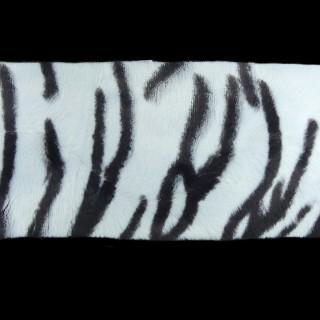Piel pelo tigre 10cm blanco