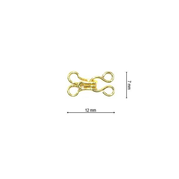 Corchete metal t/0 12uni.oro