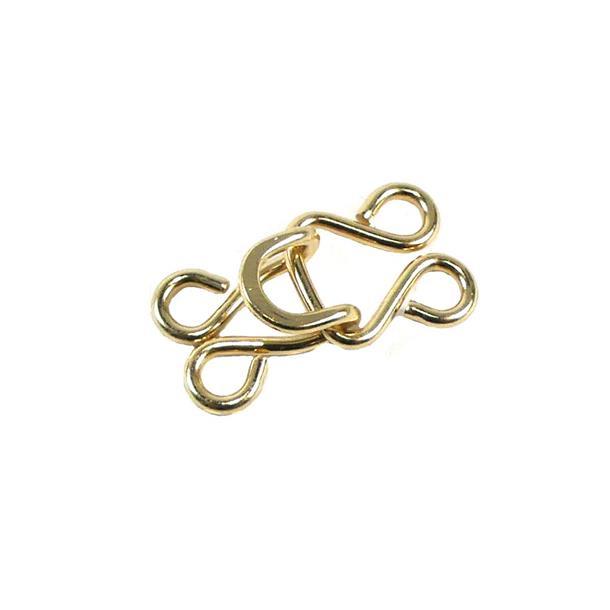 Corchete metal 6 unid.dorado