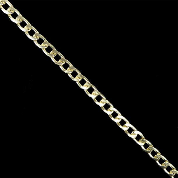 Cadena aluminio recta oro