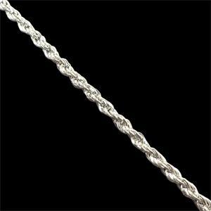 Cadena acero labrada plata