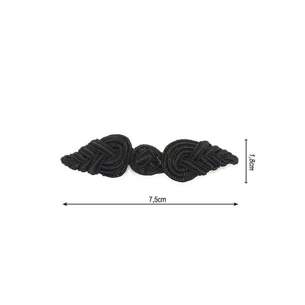 Alamar rayon 18x75mm negro