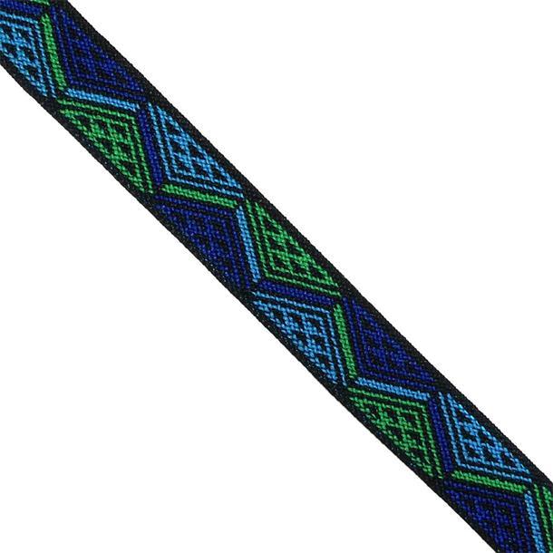 Goma etnica azul+verde 25mm.