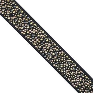 Elastico tachas 3cm. negro