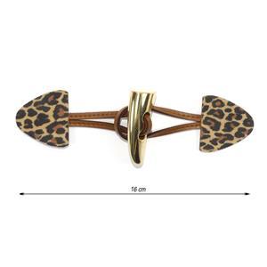 Broche trenka piel leopardo