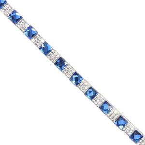Strass+cristal azul termo40x16