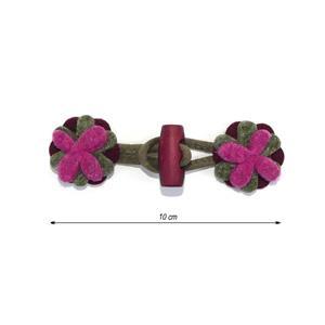 Broche trenka flor marr+frambu