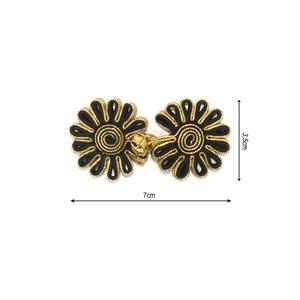 Alamar metalizado flor oro+ng