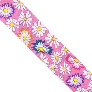 Cinta faya est.flores rosa