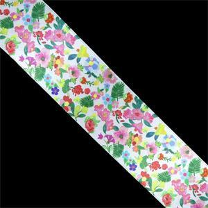 Cinta raso flores 2caras 48mm.