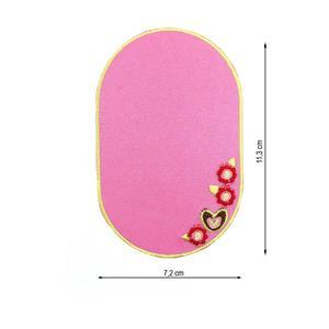 Parche codera bordado rosa flo