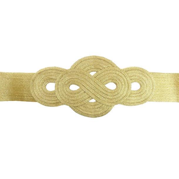 Aplique cintura ochos dorado
