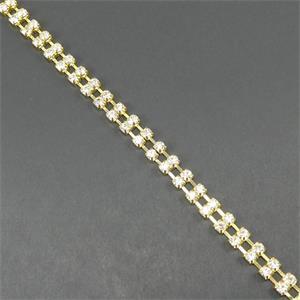 Strass cadena doble ss08 oro