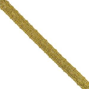 Pasamaneria dorado 15mm.