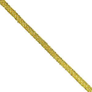 Galon metal trama rayon oro