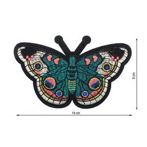 Parche termo mariposa verde