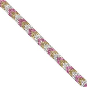 Tira strass termo tost+rs 15mm