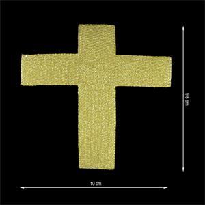 Aplic.termo cruz 100x95mm.oro