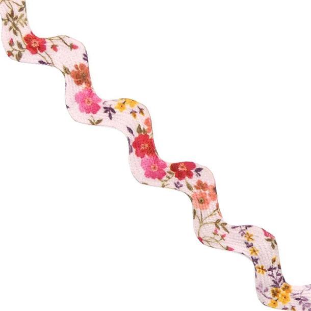 Picunela impresa flores rosa