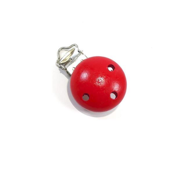 Pinza boton chupetero rojo