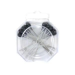 Alfiler lagrima negro 20 unida
