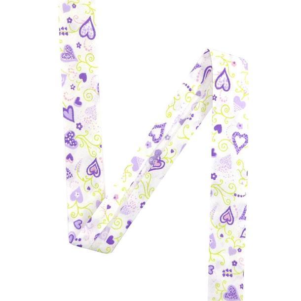 Bies corazones 20mm.lila