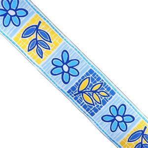Cubrecost.flores 50mm.azul