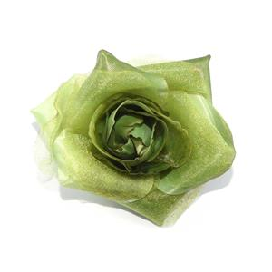 Flor solapa musel+raso verde