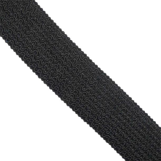 Goma zig-zag 5cm. negro