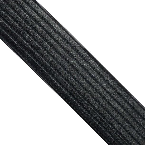 Cinta elastica rayas 6cm.negro