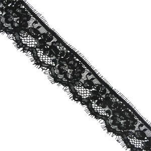 Puntilla nylon soutache negro