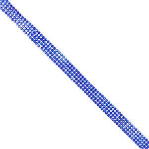 Strass 4 filas termo azul.40cm
