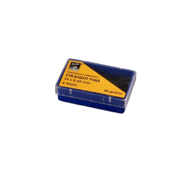 Caja alfileres 25g. 34x0.60mm.