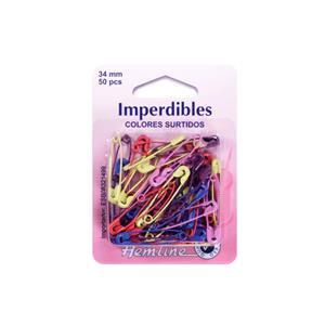 Imperdibles color 50unid./34mm