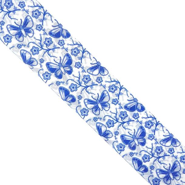 Cinta mariposas azul 50mm.