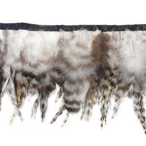 Fleco plumas 15cm.gallo nat.