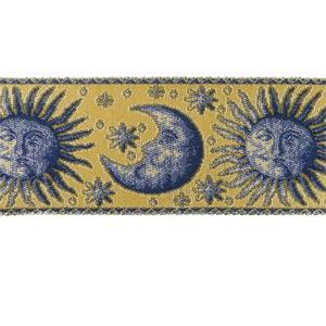 Greca decoracion sol+luna azul