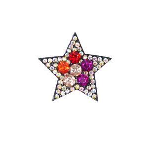 Parche estrella strass 3x3cm.