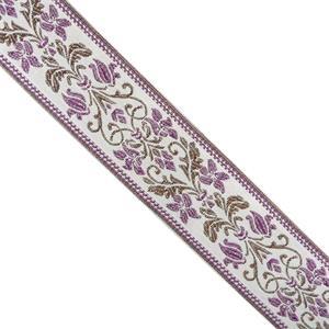 Cubrecosturas 5cm.flores lilas