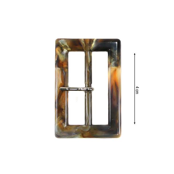 Hebilla rectangular 4cm.marmol