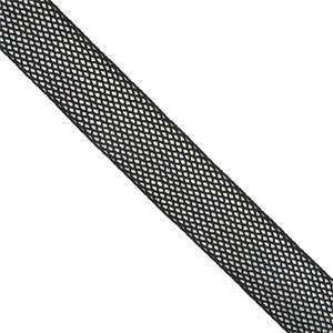 Galon elastico malla negro
