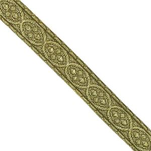 Galon metal jacquard oro viejo