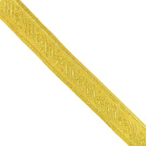 Galon metal jacquard oro 30 mm