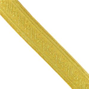Galon metal jacquard oro 40 mm