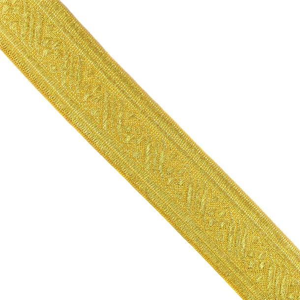 Galon metal jacquard oro 40 mm