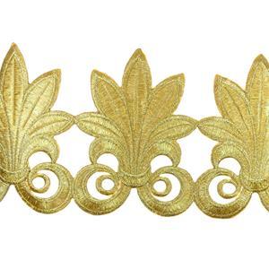 Galon termo flor lis 13cm.oro